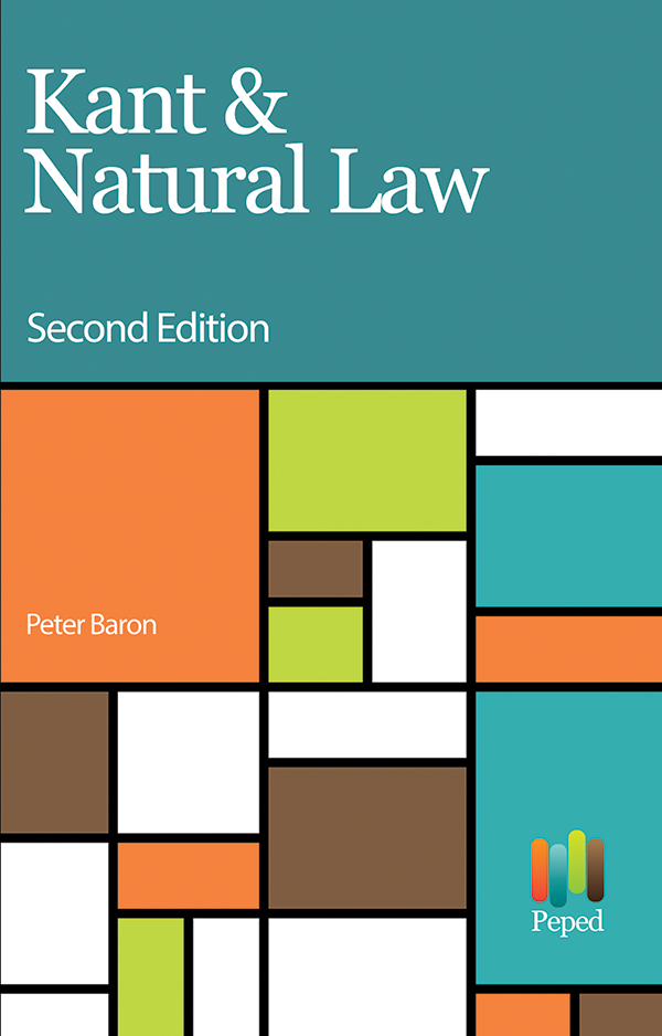 Kant & Natural Law - Philosophical Investigations