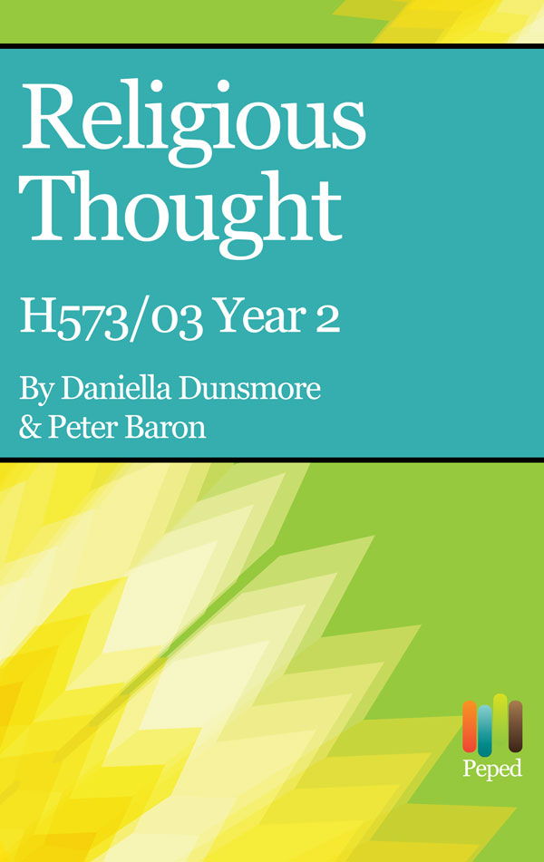 H573 03 Religious Thought New Spec Year 2