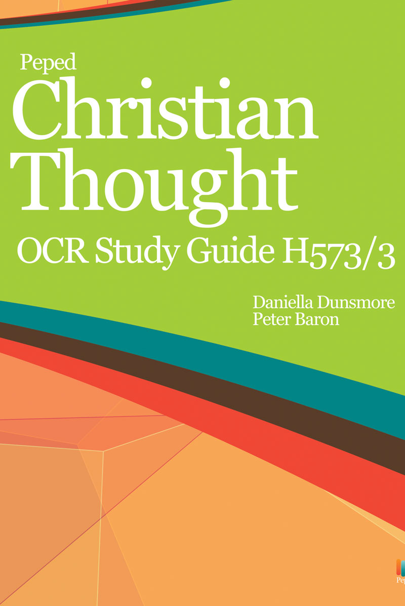 Christian Thought OCR Study Guide H573/3 - Philosophical Investigations