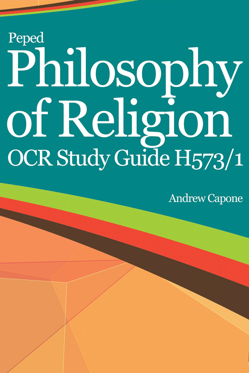 Philosophy of Religion OCR Study Guide H573/1