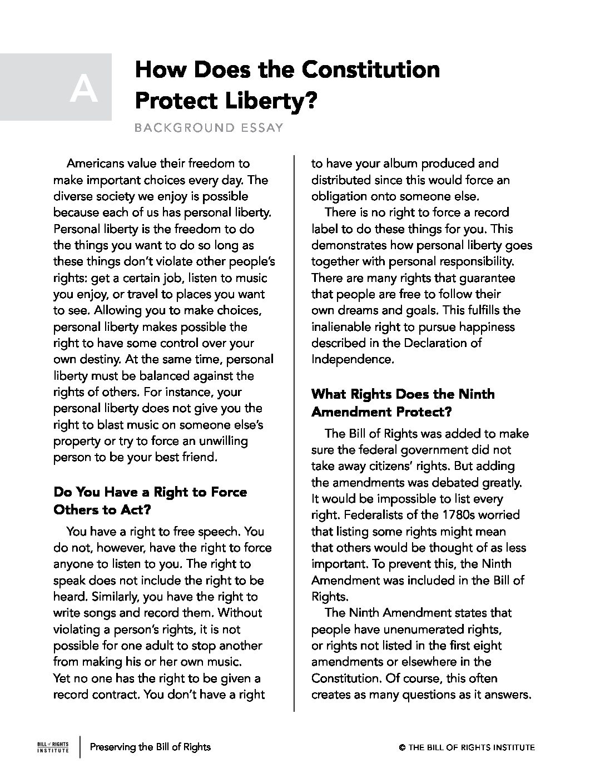 personal bill of rights pdf